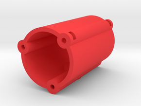 Binaural Mic Mount in Red Processed Versatile Plastic