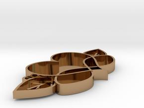 Love Blooms Infinite - Pendant in Polished Brass: Medium
