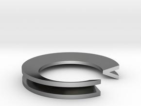 V Ring in Polished Silver: 4 / 46.5