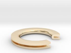 U Ring in 14K Yellow Gold: 4 / 46.5