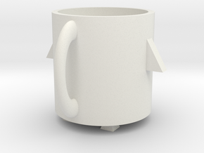 Rocket mug in White Strong & Flexible