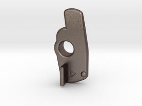 Simple human Trash Sturdy Metal Slide Lock #PD6047 in Polished Bronzed Silver Steel