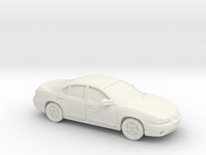 1/43  1997 Pontiac Grand Prix Sedan in White Natural Versatile Plastic