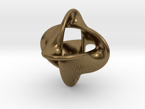 Unusual twisted D8 (bumps inside) in Natural Bronze: Large
