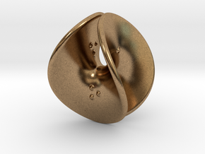 Enneper D4 (positive counterweights) in Natural Brass: Extra Small