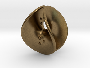 Enneper D4 (negative counterweights) in Natural Bronze: Extra Small