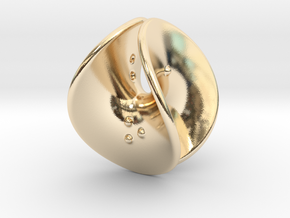Enneper D4 (negative counterweights) in 14K Yellow Gold: Extra Small