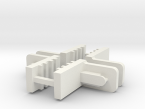 FixLat Mosler -1 MiniZ 2pr  in White Natural Versatile Plastic