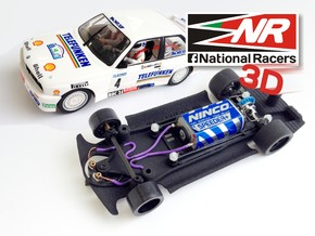 3D chassis for Fly M3 E30 (Inline) in Black Strong & Flexible