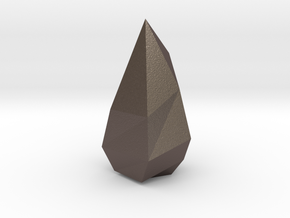 Low poly Crystal in Polished Bronzed Silver Steel