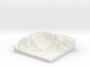 Kalalau Valley 1:43,000 in White Natural Versatile Plastic