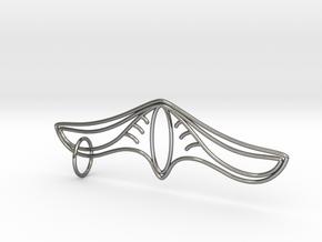 K Pendant in Polished Silver (Interlocking Parts)