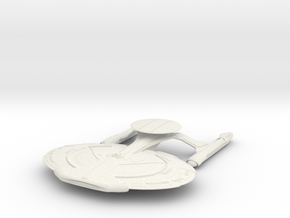 Norcross Class  BattleShip With Pod in White Natural Versatile Plastic