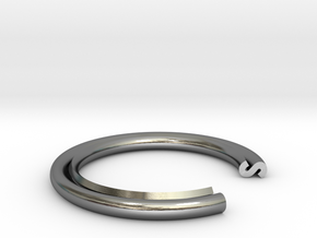 S Ring in Polished Silver: 13 / 69