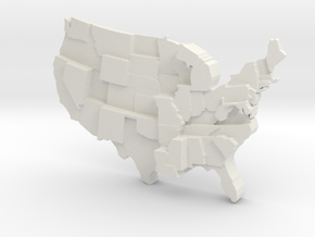 USA By Homicide in White Natural Versatile Plastic