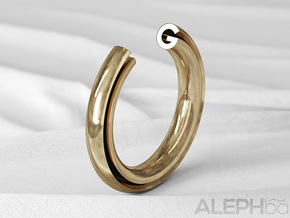 G Ring in Natural Bronze: 6 / 51.5