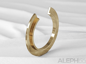 L Ring in Natural Bronze: 6 / 51.5