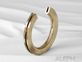 U Ring in Natural Bronze: 6 / 51.5