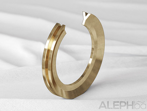 Y Ring in Natural Bronze: 6 / 51.5
