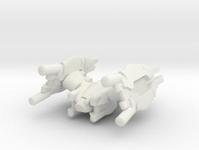 REGENT-T1-50mm in White Natural Versatile Plastic