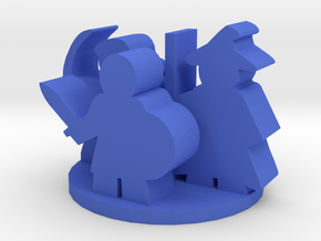 Game Piece, Fantasy Characters Group in Blue Processed Versatile Plastic