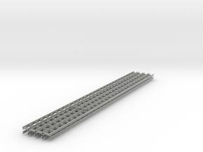 [8st] Geleiderail 30cm H0/1:87 in Metallic Plastic