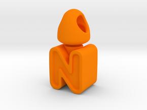 H - N Turn a round pendant in Orange Processed Versatile Plastic