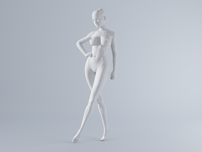 Mini Sexy Woman 024 1/64 in Frosted Ultra Detail: 1:64 - S