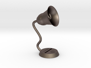Retro speaker lamp charging stand in Stainless Steel