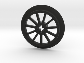 Medium sized Train Wheel in Black Natural Versatile Plastic