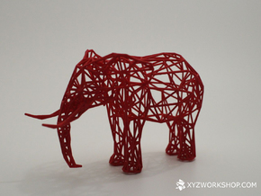 Digital Safari- Elephant (Small) in Black Natural Versatile Plastic