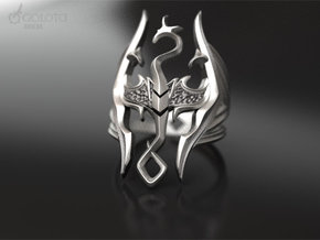 Skyrim Gothic Ring  in Polished Bronzed Silver Steel: 7 / 54