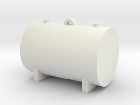 1:64 550 Gallon Fuel Tank in White Natural Versatile Plastic