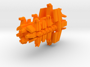 Colour Free Republic Artilery Cruser in Orange Processed Versatile Plastic
