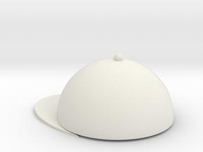 cap in White Natural Versatile Plastic: Medium