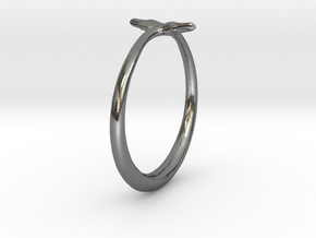 Cygnus Olor Swan Ring 7 in Polished Silver