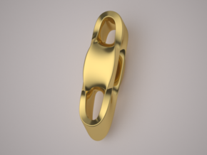 Triple Cube Gold 003 in 14K Yellow Gold