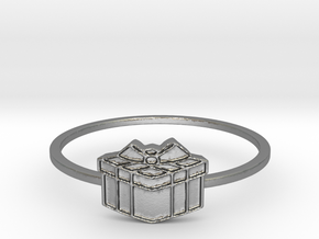 Present Ring (Size 5-10)  in Natural Silver: 7 / 54