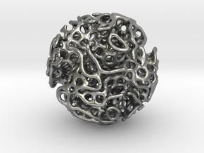 Small lidinoid (irregular holes) in Natural Silver