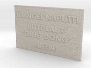 "Name Plate ""Ding Dong"" in Sandstone"