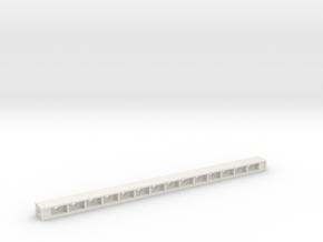 Light Bar Housing in White Natural Versatile Plastic