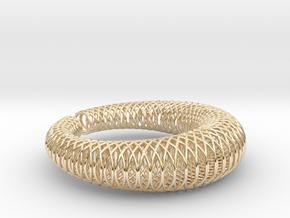 Bracelet 'Wire pattern' in 14k Gold Plated Brass