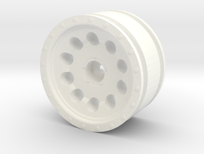 "10 Hole Alloy Wheel, 1.7"" in White Processed Versatile Plastic"