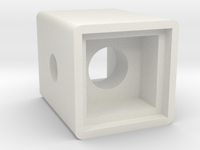 Light Cube Housing in White Natural Versatile Plastic