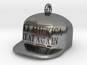 Make America Great Again charm in Polished Silver