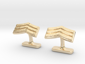 Mens sergeant 3 stripe cufflinks in 14K Yellow Gold
