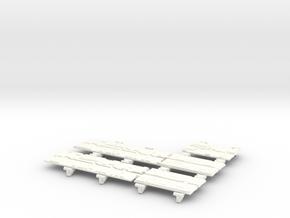 MILLENNIUM HSBRO LANDING BAYS DOORS in White Strong & Flexible Polished
