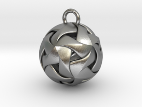 Spherical Pendant in Natural Silver