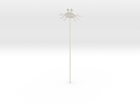 FSM Emblem On A Stick in White Strong & Flexible