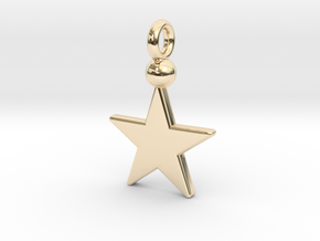 Star Pendant 1 in 14k Gold Plated
